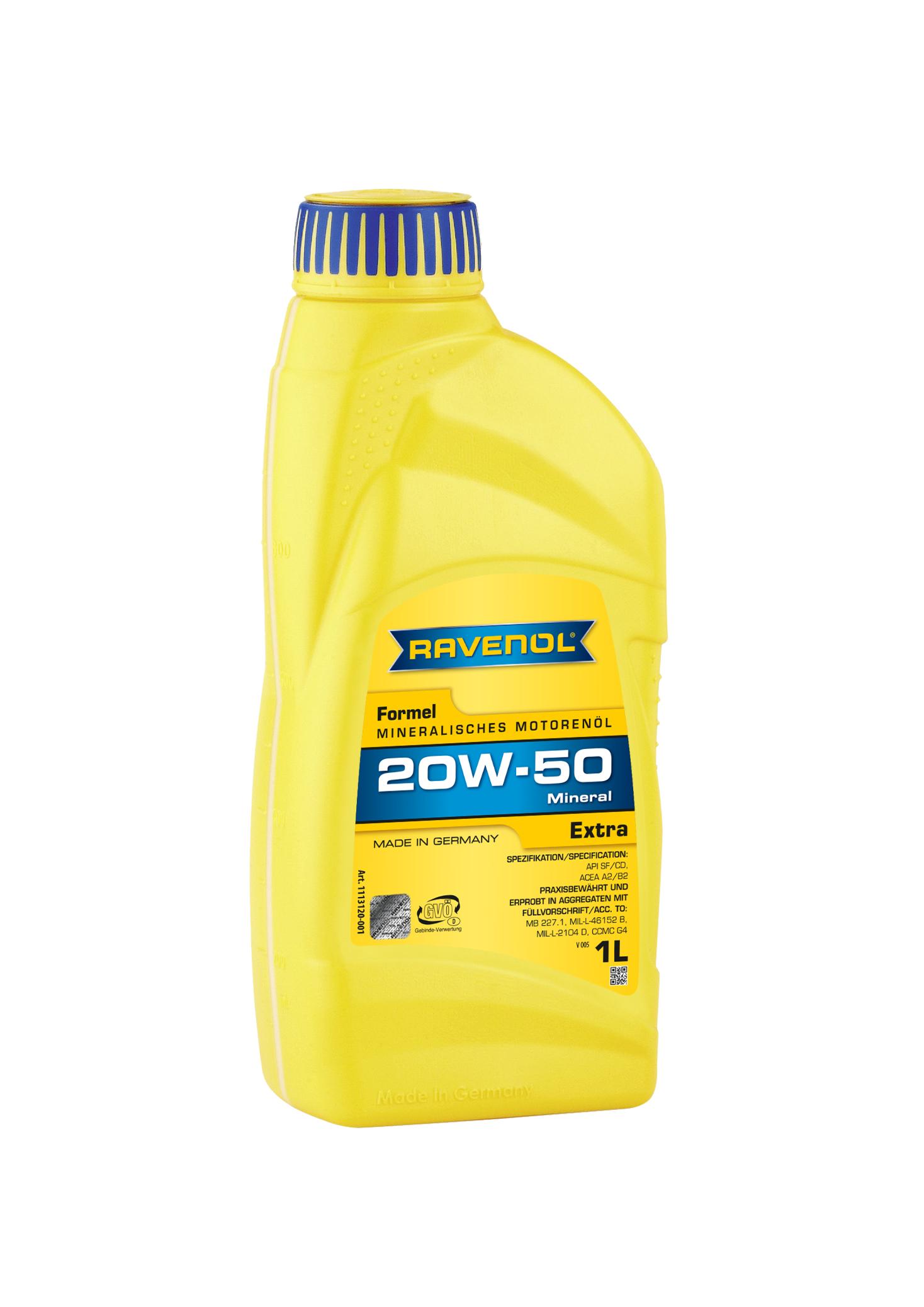 Ravenol Formel Extra Sae 20w 50 Ravenol